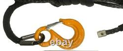 100 ft 10mm Synthetic Black Winch Rope & Hawse UHMWPE, Self recovery 4x4 BLACK