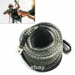 10mm30m Synthetic Winch Line Cable Rope 23809LBS Hook + Hawse Fairlead