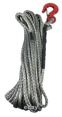 10mm Dyneema SK75 Synthetic 12-Strand Winch Rope x 30m With Hook Off Road ATV