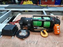 12V ELECTRIC WINCH HI-VIZ 9MM SYNTHETIC RECOVERY TRUCK ROPE @ £329.00 inc vat
