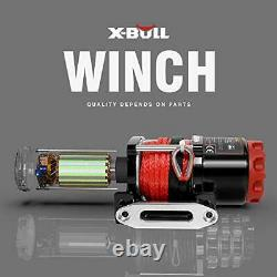 12V Synthetic Rope Electric Winch 4500LBS/2030KG Winch 10M Wireless ATV