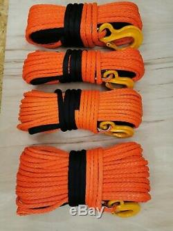 12mm 15mm Orange Synthetic winch rope quality UHMWPE choose diameter & length
