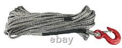 12mm Dyneema SK75 Synthetic 12-Strand Winch Rope x 20m With Hook Off Road ATV