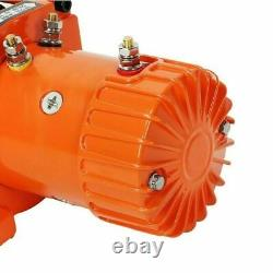 12v Electric Winch, 13500lb Synthetic Rope, Heavy Duty 4x4, ATV Recovery with 2RC