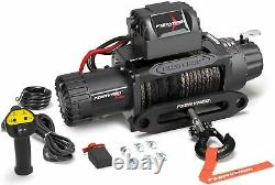 13000lb 12V Electric Winch Offroad with Synthetic Rope Remote Control for Car SUV
