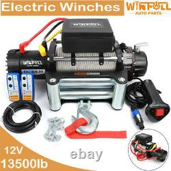 13500lb 12v Recovery Truck Electric Winch Recovery Winch With Synthetic Rope