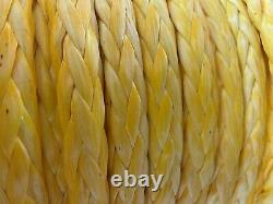 14mm OX10 HMPE Dyneema Yellow Synthetic Winch Rope 4x4 MBL 14,200kgs