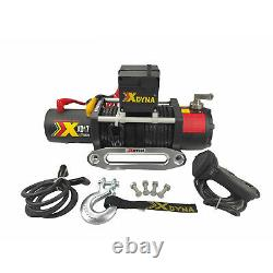 17000lbs x 24v ELECTRIC WINCH (2461 x 6.6hp) 28m SYNTHETIC ROPE recovery 4 x 4