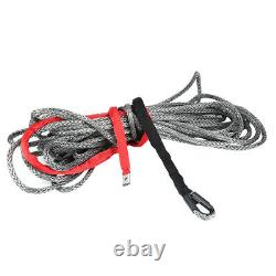 27m10mm Nylon Synthetic Winch Rope Line Cable 20500 LBS for SUV ATV Truck