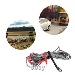 27m10mm Synthetic Winch Rope Line Cable with Protective Sleeve 20500 lbs for AT