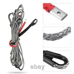 27m10mm Synthetic Winch Rope Line Cable with Protective Sleeve 20500lbs ATV, UTV