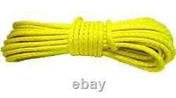 28m 10mm 13500 Lbs Yellow Synthetic Winch Rope With Hook Wire 4x4 Uhmpe