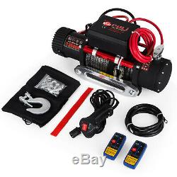 300013500LBS Electric Winch Steel/Synthetic Rope 12V ATV Boat 4x4 Recovery