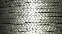 3/8 (10mm) x 350' HMPE Winch Line, Synthetic Rigging Rope, 12-Strand Braid, USA