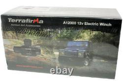 4x4 12000lb Synthetic Rope 12V Recovery Winch Terrafirma A12000 TF3301