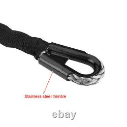 88.6' Length 20500 LBS Edition Synthetic Winch Line Rope & Hawse Fairlead Black