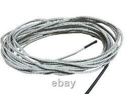 8mm Super 12 Dyneema Winch Rope With Hook Synthetic Winch Rope Choose Length