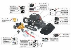 AC-DK 12V 9500 lb ELectric Winch Synthetic Rope Towing Truck Trailer Jeep 4WD