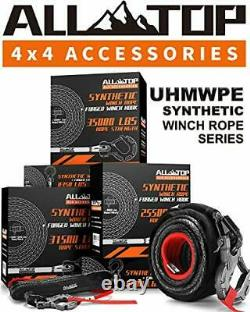 ALL-TOP Synthetic Winch Rope Cable Kit 1/2 x 92 ft 31500LBS Winch Line with