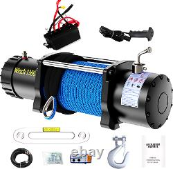 Anbull Electric 12V 13000 lb Winch Synthetic Rope Wireless Remote Towing ATV UTV