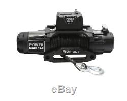 Bearmach Power Mach 12,000lb 12v Two Speed Winch With 10mmx27m Synthetic Rope &