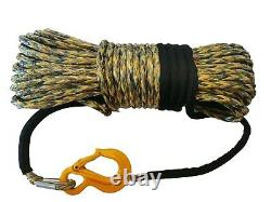CAMOUFLAGE WINCH ROPE 10-11-12mm Synthetic off road High Quality UHMWPE WINCH-IT