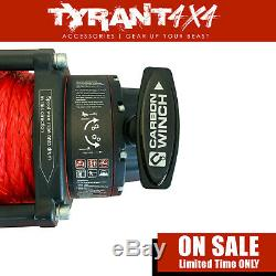 Carbon 12K 12000LB Electric Winch Synthetic Rope to suit Jeep Wrangler JK TJ JL