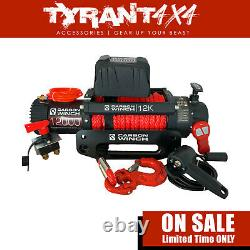 Carbon 12K 12000LB Electric Winch Synthetic Rope to suit Suzuki Jimny 2020 Wagon