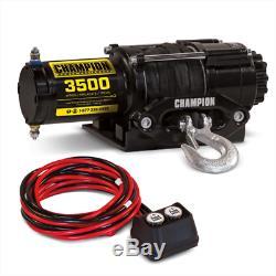 Champion Power Equipment 100428 3500-LB Rated ATV UTV Synthetic Rope Winch Kit