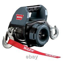 Drill Winch Hydraulic 40 Feet 750 LBS Capacity Warn 101575 Synthetic Rope