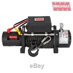 ELECTRIC WINCH 12V 4x4 13500lb MILITARY SPEC. WINCHMAX BRAND + SYNTHETIC ROPE