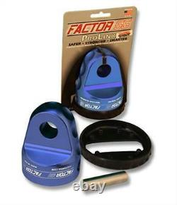 Factor 55 Loaded ProLink Shackle Mount Winch Thimble with Titanium Pin Blue