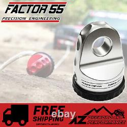 Factor 55 Loaded ProLink Shackle Mount Winch Thimble with Titanium Pin Silver