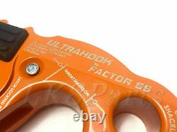 Factor 55 Orange UltraHook Winch Hook For Up To 3/8 Winch Cable /Synthetic Rope