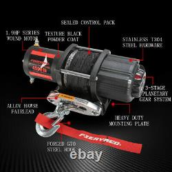 FieryRed 4500LBS Electric Winch ATV UTE Offroad withSynthetic Rope Remote Control