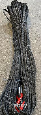 HMPE Dyneema Synthetic Winch Rope with Hook 4x4 6mm to 16mm Various Lengths