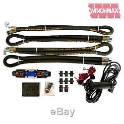 HYDRAULIC WINCH 15000 lb WINCHMAX ORIGINAL ORANGE WINCH + DYNEEMA SYNTHETIC ROPE