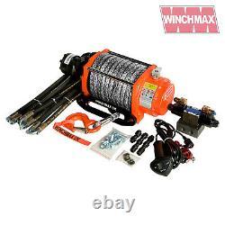 HYDRAULIC WINCH 20000 lb WINCHMAX ORIGINAL ORANGE winch + DYNEEMA SYNTHETIC ROPE