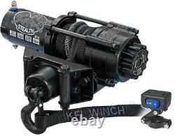 KFI Stealth 2500 LB ATV UTV SXS Winch With Synthetic Rope SE25