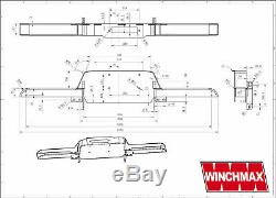 LAND ROVER DEFENDER 13500lb WINCHMAX SL SYNTHETIC ROPE WINCH +BUMPER COMBO KIT