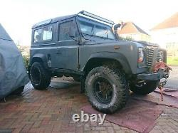Land Rover Defender Winchmax 12v 13,000lbs, synthetic rope & Taper Winch Bumper