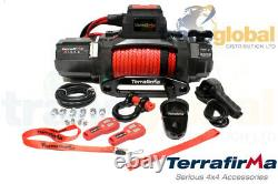 M12.5S 12V Electric Winch w Synthetic Rope 2 Wireless Controls Terrafirma TF3320