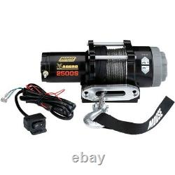 Moose 2500 LB Aggro 4 Wheeler ATV 2500S Winch Synthetic Rope with Dash Switch