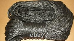 NEW 3/8x 140' Dyneema Winch Line, Synthetic Pulling Rope, 12-Strand Braid
