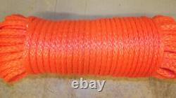 NEW 3/8x 162' Dyneema Winch Line, Synthetic Pulling Rope, 12-Strand Braid