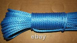 NEW 5/16x 194' Dyneema Winch Line, Synthetic Pulling Rope, 12-Strand Braid