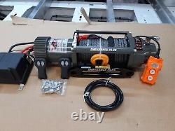 RECOVERY TRUCK 12V WINCH 7.2HP MOTOR -9MM-SYNTHETIC ROPE WINCH@ £349.00 inc vat