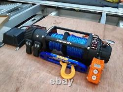 RECOVERY WINCH 13500LB 12V ELECTRIC WINCH SYNTHETIC ROPE £325.00 inc vat