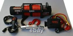 Raptor 4x4 Tyrex 13000lb Winch Synthetic Rope Recovery Off Road Winching