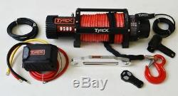 Raptor 4x4 Tyrex 9500lb Winch Synthetic Rope Recovery Off Road Winching